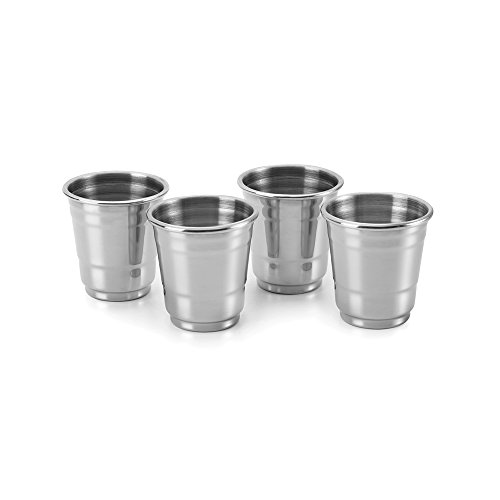 Outset Stainless Steel Shot Glasses Set of 4 25-Ounce