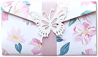 Porta soldi - pocketfold - romantico - fiori di pesco - cerimonie - (busta formato 17,5 x 10 cm) + biglietto senza scritte...