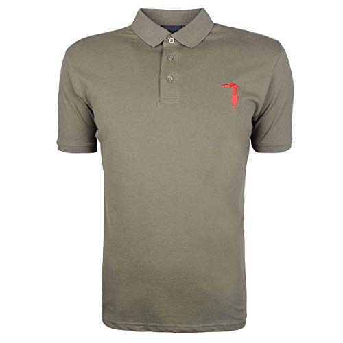 Trussardi Poloshirt Khaki mit Stretch Anteil - M(DE) / M(IT) / M(EU)