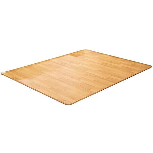 didian Heizkissen Für Zu Hause, Elektrische Fußbodenheizung, Fußwärmer Für Das Büro, Teppichheizung, Schnelles Aufheizen, Intelligente Konstante Temperatur (helle Holzfarbe)