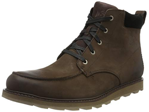 Sorel Men's Madson Moc Toe Waterproof Boots, Bruno/Black, 11 Medium US