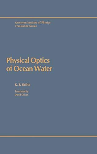 Physical Optics of Ocean Water (AIP Translation Series)