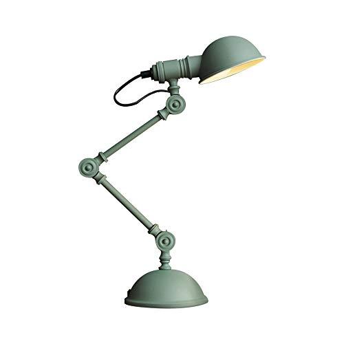 ForeverBox, FB7-62603, industriële retro verstelbare groene tafellamp kinderkamer creatieve LED leeslamp bureaulamp met gloeilamp