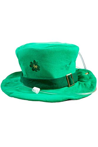 St. Paddy's Tipsy Top Hat w/Built in Liquid Bladder - St. Patrick's Day Drinking Leprechaun Hat
