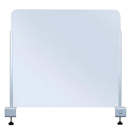KLEMP Spuckschutz Plexiglas 100x75 – Schutzwand Transparent – Thekenaufsatz für Schreibtisch - Gastronomie - Nagelstudio - Trennwand als Schutz für die Theke – Spuck - und Niesschutz