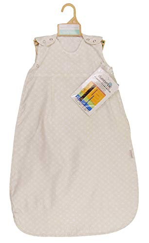 Saco de dormir para bebé, 0,5 Tog, 1 tog, ideal para verano o vacaciones calurosas Círculos crema 1 tog Talla:0-6 meses