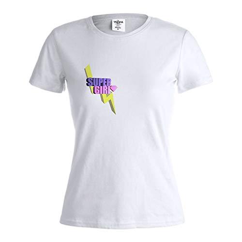 PROMO SHOP Camiseta Mujer con Diseño Especial Feminista · Camiseta Personalizada Super Girl · Ideal para Regalar el Día de la Mujer · Manga Corta/Talla XL · 100% Algodón