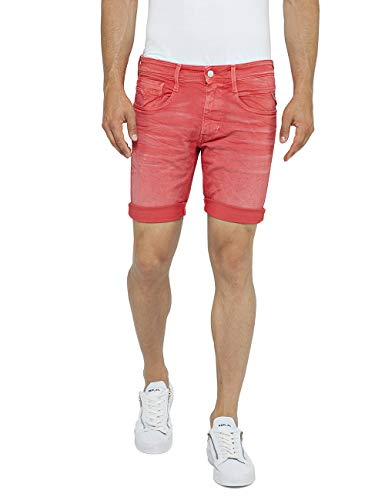 Replay Herren Anbass Shorts, Rot (Poppy Red 210), W34(Herstellergröße: 34)