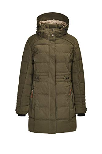G.I.G.A. DX dames Zelinda functionele jas, parka/mantel in dons-look, met afritsbare capuchon, waterkolom 8000 mm
