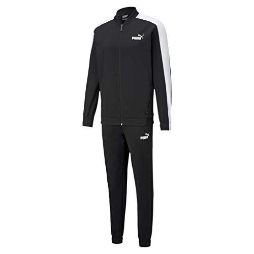 Puma Herren Baseball Tricot Suit Trainingsanzug, Black, L