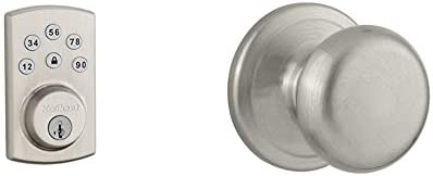 Kwikset 99070 101 Powerbolt 2 Door Lock Single Cylinder Electronic Keyless Entry Deadbolt Juno product image