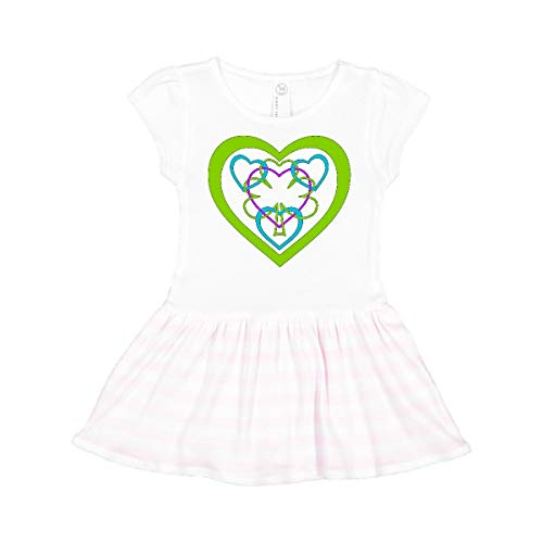 inktastic Celtic Interlace Shamrock and Toddler Dress 2T White and Pink 28af8