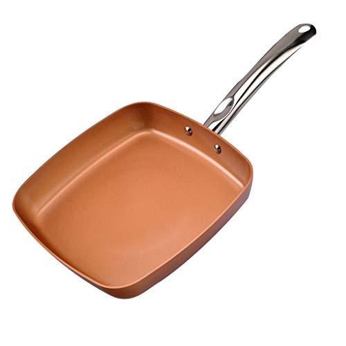 TJLSS Pan de metal - antiadherente Estufa Fogón de gas universal Pan Seguridad cacerola antiadherente de cocina utensilios de cocina