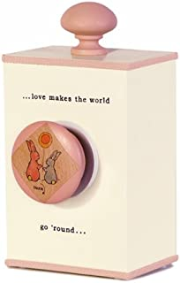 Tree By Kerri Lee Wooden Windup Music Box Love, Cream/Pink