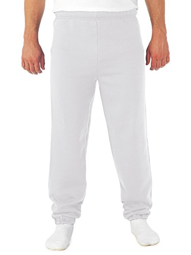 Jerzees 8 oz NuBlend 50/50 Sweatpants 973 white X-Large