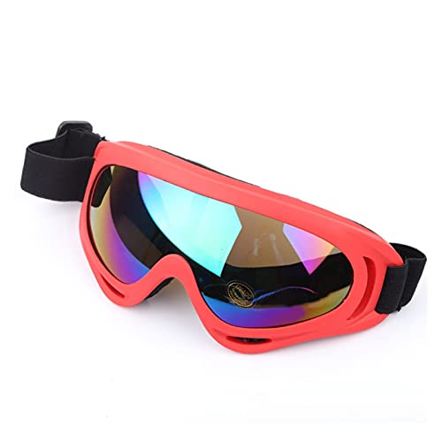 Exterior Goggles de esquí X400 Anti-Ultraviolet Sports Snowboard Patinaje Gafas para Hombres, Mujeres y jóvenes (Color : Red Colorful)