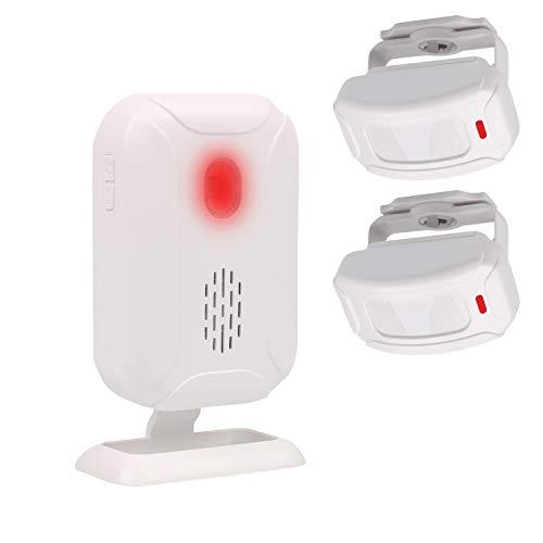 Mengshen Bewegungsmelder Alarm, Türklingel Alarm für Haustür/Einfahrt/Zuhause/Laden/Briefkasten, Alarmanlage mit 2 Sensor und 1 Empfänger - YBQ042