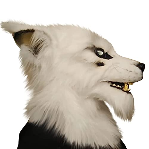 Csy Mascarilla De Hombre Lobo De Halloween Horry Scaror Animal Lobo Mascarilla Mascarilla Mascarada Máscara De Lujo Accesorios Accesorios Accesorios para Adultos Cosplay Disfraz