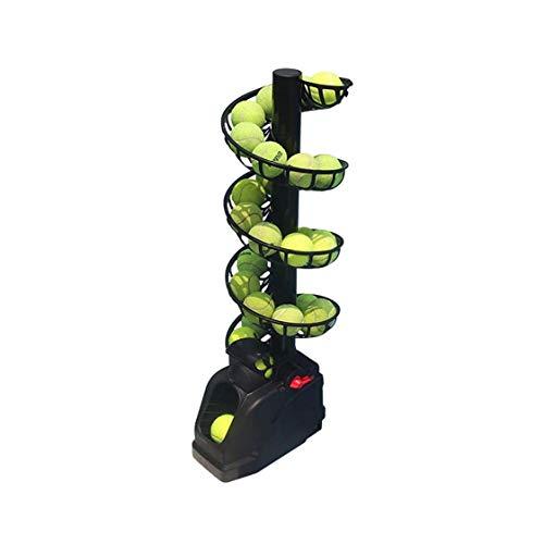 Máquina de Pelota de Tenis Máquina de Tenis Tirar la máquina de Lanzamiento con batería y Pistas Recargables Puede Contener 30 Bolas (sin incluir Tenis)