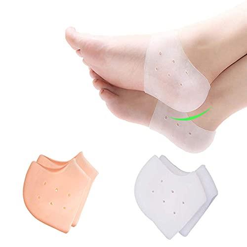 Silicone Heel Protector, Heel Cushion, Heel Pads,Gel Heel Cups(4 Pieces), for Plantar Fasciitis,Blister, Cracked Foot, Bone Spur Relief,Heel Pain, Achilles Tendinitis for Men & Women
