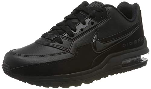 Nike Mens Air Max LTD 3 Sneaker, Black/Black-Black, 44 EU