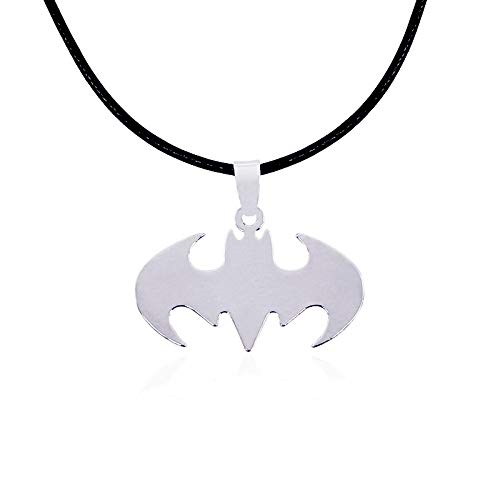 Collana con Pendente da Uomo in Acciaio inossidabile Eroi Film Regali per Fan (Batman)