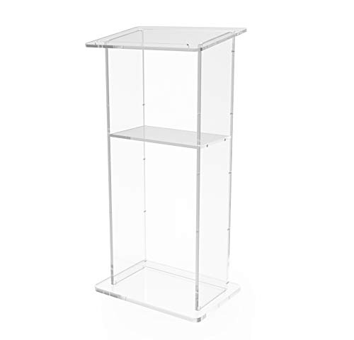 """FixtureDisplays Clear Acrylic Lucite Podium Pulpit Lectern 45"""" Tall 1803-2"""