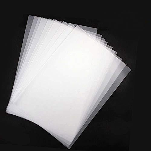 Transparentpapier 100 Blatt bedruckbar Weiß DIN A4 70g/qm zum BZeichnen, Basteln, Gestalten Papier Transparent