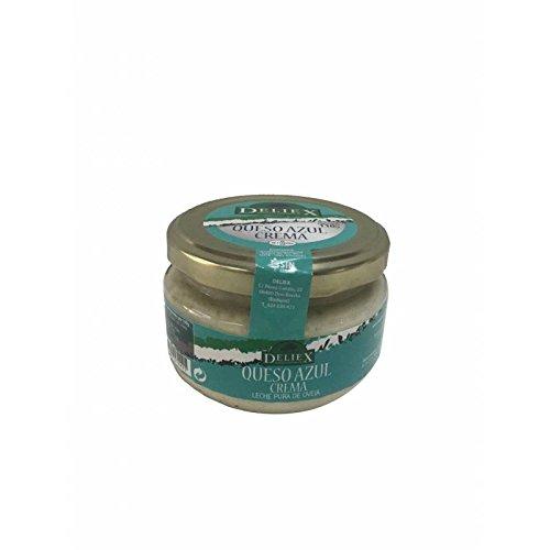 tarro de cristal con crema de queso azul 110 gr marca Deliex