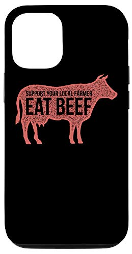 iPhone 12/12 Pro Vintage Quote Support Your Eat Beef Local Farmers Case