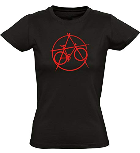Damen Fahrrad T-Shirt : Anarchy Bike - Geschenke für Damen Frau Frauen - Radfahrer-in Mountain-Bike MTB Fixie Rennrad Outdoor Urban Trikot Anarchie (M)