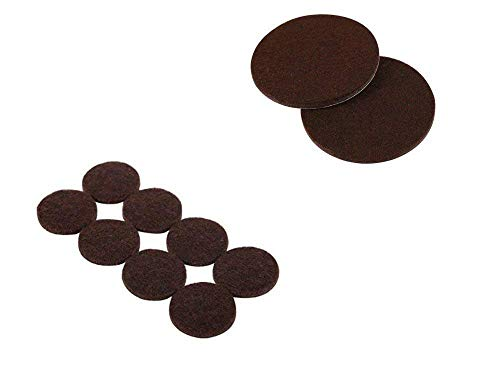 AKOAK 16 Pieces 2-Inch Furniture Round Felt Pads, Self-adhesive,To Protect the Furniture and Floors,Brown