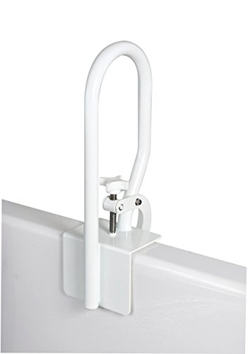 Carex White Bathtub Rail, Secure Bathtub Rail for Assistance Getting in and out of Tub, Easy to Install on Fiberglass Tubs, Up to 200 lbs Weight Capacity