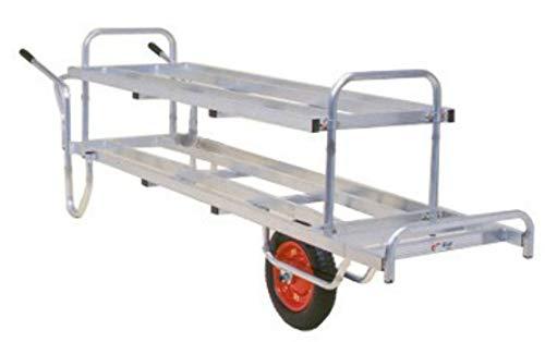 一輪車(台車) 花用2段タイプ (アルミ製 荷台は前面フラット)コン助 CNT-360S