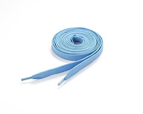 Underground Kulture Lacets plats, 11 mm x 120 cm, couleur unie, Polyester, bleu bébé, 11mm x 120cm