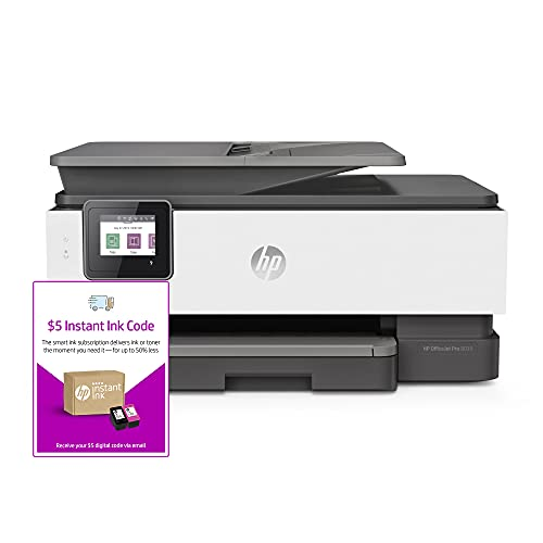 HP OfficeJet Pro 8035 All-in-One Wireless Printer - Basalt (5LJ23A) and Instant Ink $5 Prepaid Code
