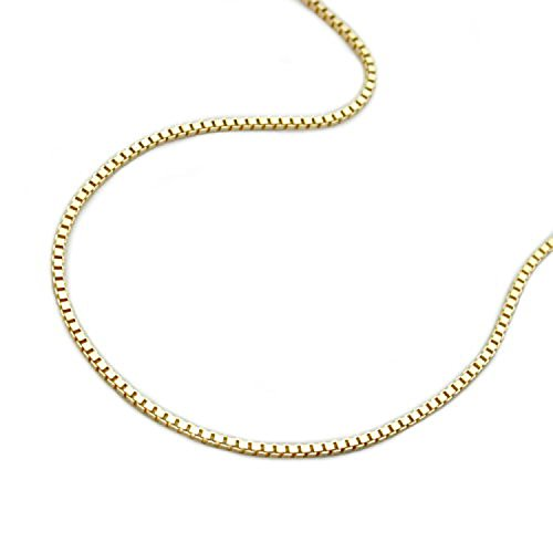 Latotsa 9 karat 375 Gelbgold Gold Kette Halskette Venezianerkette Venezianer Goldkette Schmuck Collier Kurz 42cm