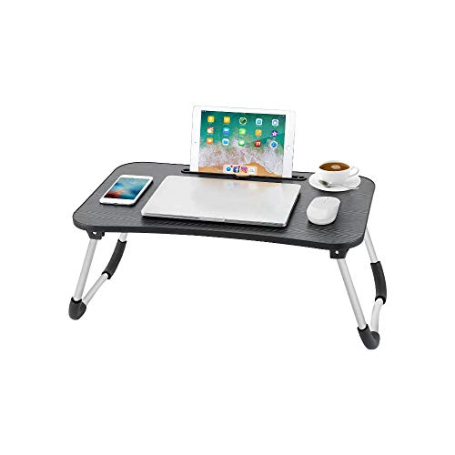 Umwon Foldable Laptop Table, Portable Laptop Bed Tray Table, Serving Tray Dining Table with Slot, Notebook Stand Holder, Suit for Working on Bed/Couch/Sofa/Floor