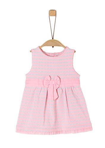s.Oliver Unisex - Baby Jerseykleid mit Schleifen-Detail light pink AOP 74