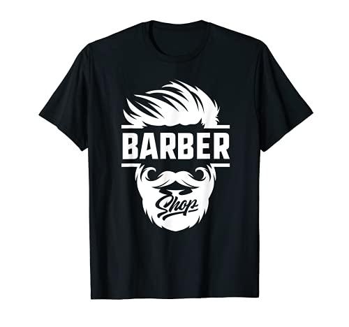 Barber Shop Haarschnitt & Rasur Klingen T-Shirt für Stylisten