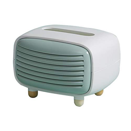 WOHCO Boîte de Rangement de boîte à mouchoirs, Forme de Radio de boîte à mouchoirs Multifonction pour Bureau de comptoir dortoir Salle de Bain commodes décoration de la Maison