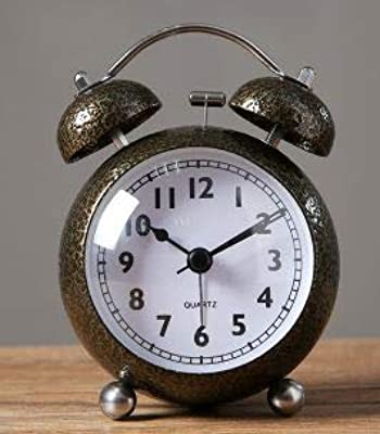 style art d/éco H/élice Horloge en aluminium massif chrom/é pour bureau