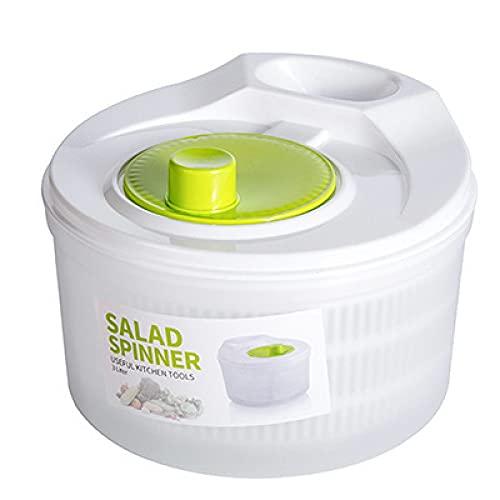 NBVFD Spinner Ensalada Grande 3L Frutas y Verduras Secador seco rápido, desagüe Lechuga con Facilidad para ensaladas de Sabor y preparación de Alimentos más rápida