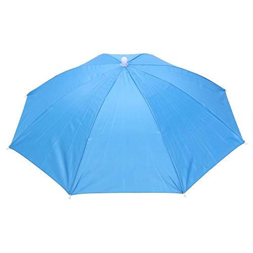 ZGMMM Paraplu Draagbare Usefull Paraplu Hoed Zon Camping Vissen Paraplu's Festivals 03