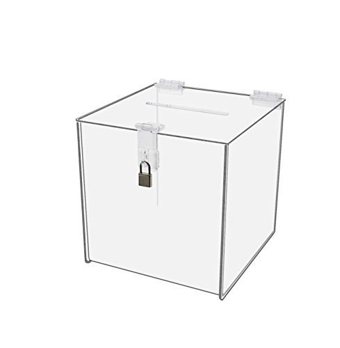 Clear Solutions 8760 Acrylic Donation/Suggestion Box with Clasp