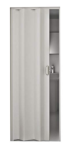 Kunststoff - Falttür Monica weiß 83x204 cm doppelwandig 8 mm; Made in Italy
