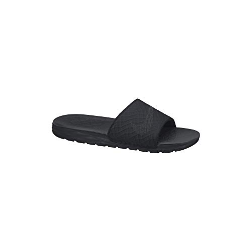 Nike Men's Benassi Solarsoft Slide Athletic Sandal, Black/Anthracite, 11 D(M) US