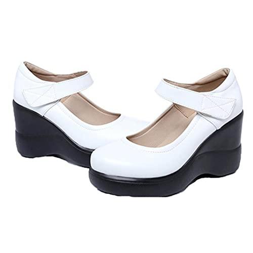 Zapatos de cuña para Mujer, Zapatos de Lolita góticos de Boca Baja...