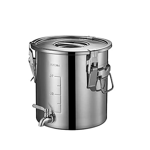 Caja De Almacenamiento De Arroz De Acero Inoxidable 304 - Caja De Almacenamiento De Cocina - Cubo Doméstico Para Almacenar Arroz - Productos Secos Sello Familiar A Prueba De Humedad Además Con Tapa