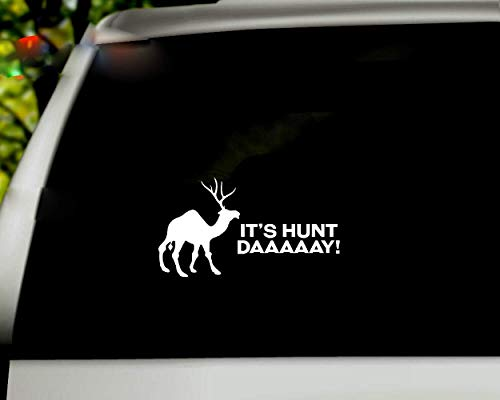 Autoaufkleber Funny Camel Quotes Deer Es ist Hunt Day Mittwoch Parodie für Karosserie Fenster Tür Heckscheibe